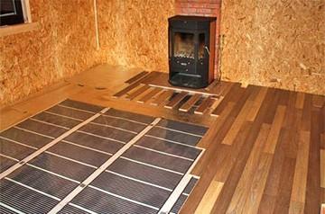 Теплый пол в деревянном помещении