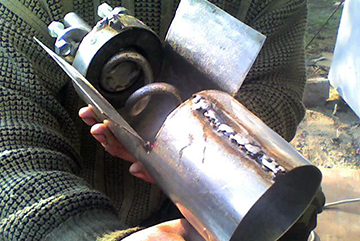 Самодельная пеллетная горелка
