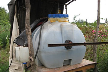 Емкость для производства газа из отходов