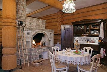 Русская печь среднего размера