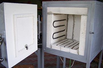 Печь с надежной дверцей