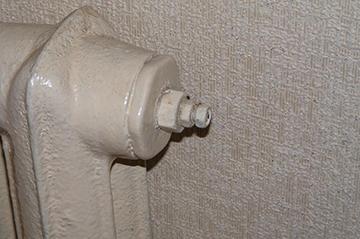 Заглушка на старом радиаторе