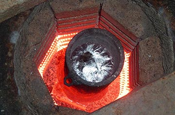 Раскаленная муфельная печь