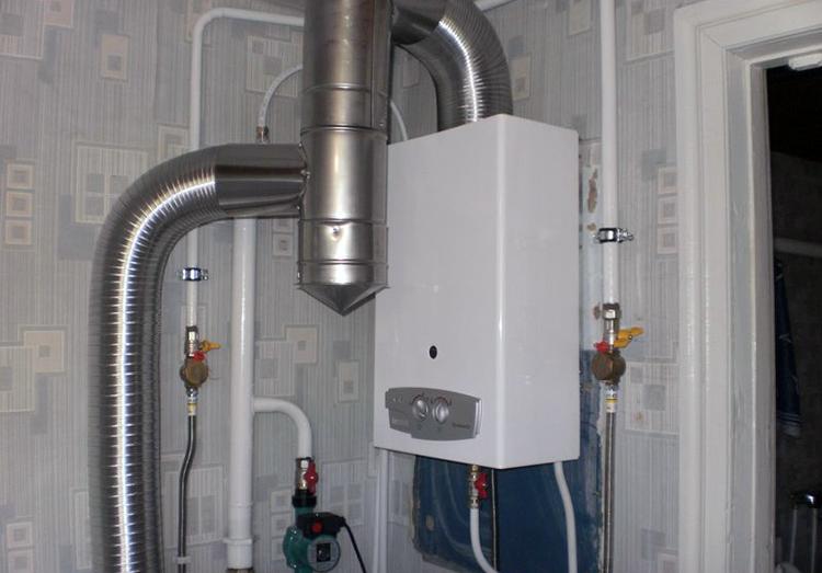 Установленный газовый котел