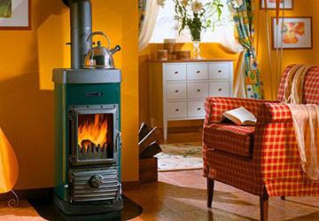 Печь газовая в доме