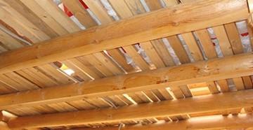 Потолок частного дома