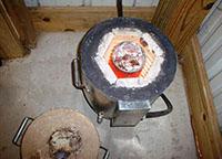 Печь муфельная самодельная