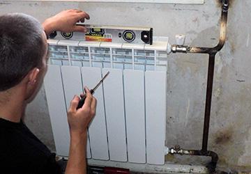 правила установки радиатора