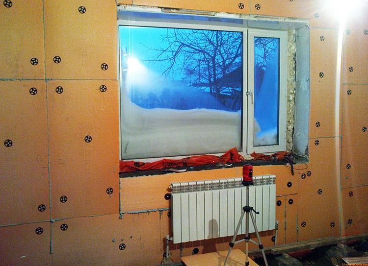 утепление стены панельного дома