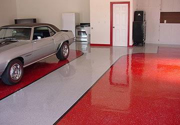 полы в гараже