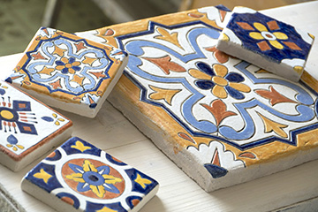 глиняная керамическая плитка ручной работы